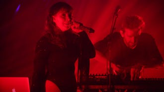 Sylvan Esso performs at the Pabst Theater Saturday.