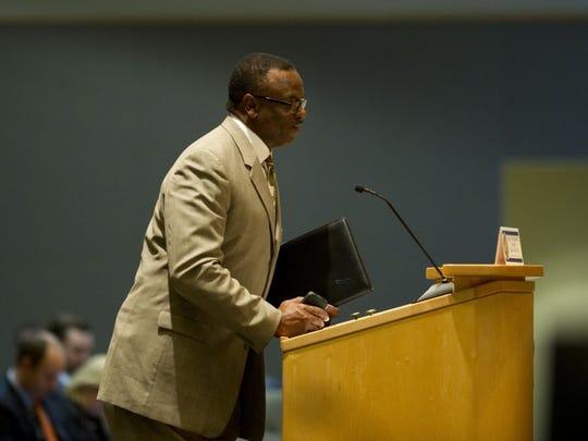 Rep. Larry Lee Jr., D-Port St. Lucie, speaks during