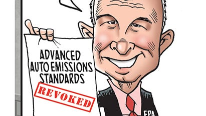 EPA Administrator Scott Pruitt plans to roll back vehicle emissions standards.