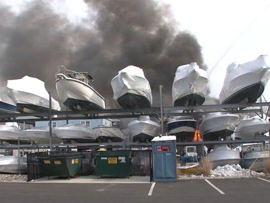 Belmar boat fire
