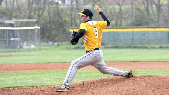 Tuscola's Jaxson Langston delivers a pitch during the