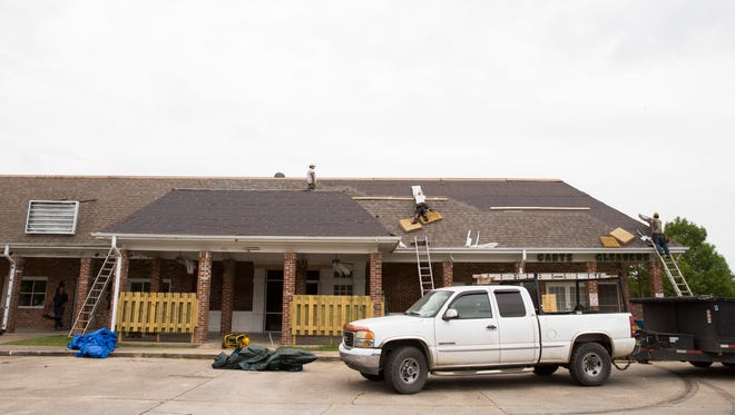 Renovations are underway at the site of the old Bob's Pub, soon to be Legends Pub in Lafayette May 16, 2016.