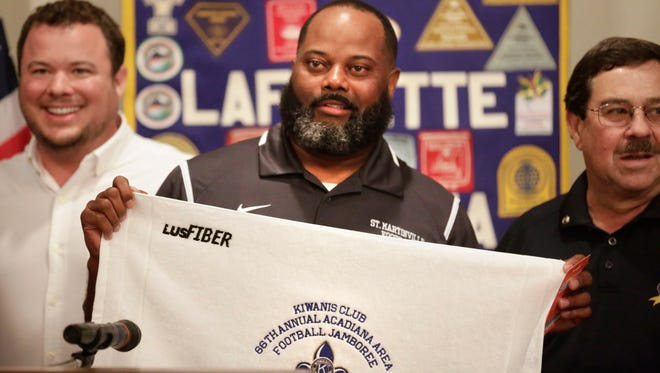 St. Martinville coach Vincent DeRouen said there are advantages and disadvantages to coaching in a parish where nearly every students attend school in their actual attendance zones.