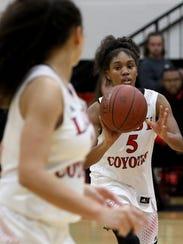 Wichita Falls High School's D'Renea Singleton passes