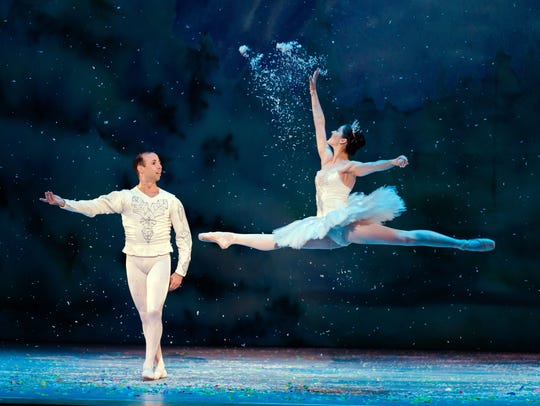 Rochester City Ballet dancers Adam Kittelberger and Jessica Tretter in The Nutcracker.