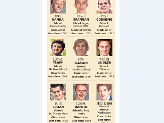 Meet the runners in the boys 800-meter special event