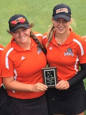 Brighton golfers Heather Fortushniak (left) and Annie Pietila made All-State for the second time.