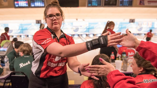Canton girls bowler Meghan Macunovich won an individual regional championship for the third time in four seasons.