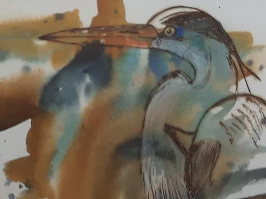 """Blue Heron"" by Jacqueline Michael received an honorable mention."