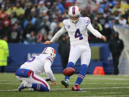 Bills kicker Stephen Hauschka had two field goals in