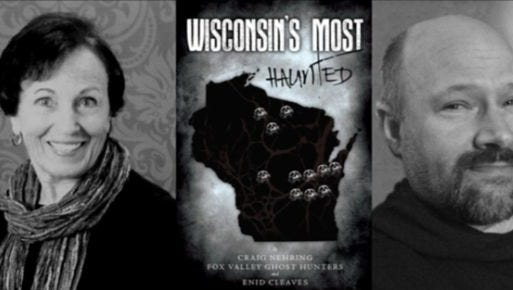 "Wisconsin author Enid Cleaves and paranormal investigator Craig Nehring will present their book, ""Wisconsin's Most Haunted,"" on June 27 at the Marshfield Public Library."