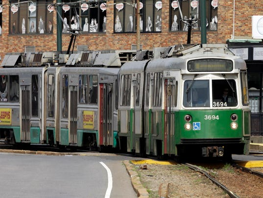 AP MBTA TRAINS RIDER INPUT A FILE USA MA