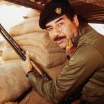 This undated file photograph shows Iraqi president Saddam Hussein.