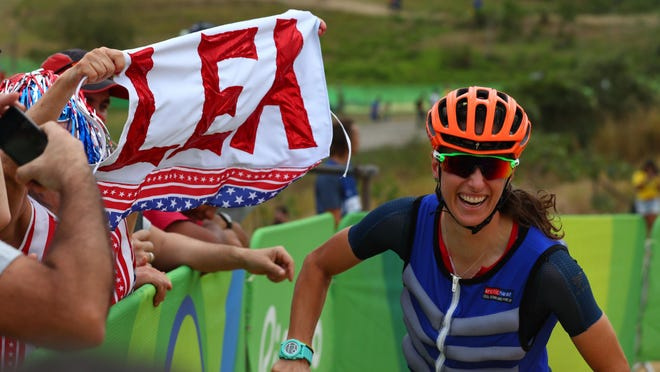Jericho's Lea Davison competes in the women''s cross country cycling mountain bike event during the Rio 2016 Summer Olympic Games on Saturday.