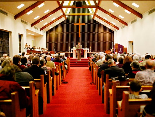 Pastor David Tietje, of St. John's UCC in Red Lion,
