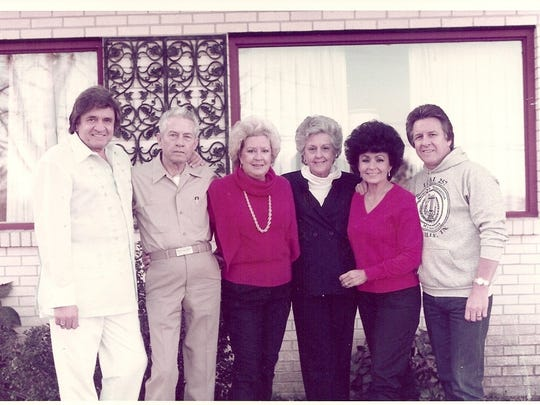 This image, provided by Brian Oxley, shows Johnny Cash and his family at the Mama Cash Home in Hendersonville.