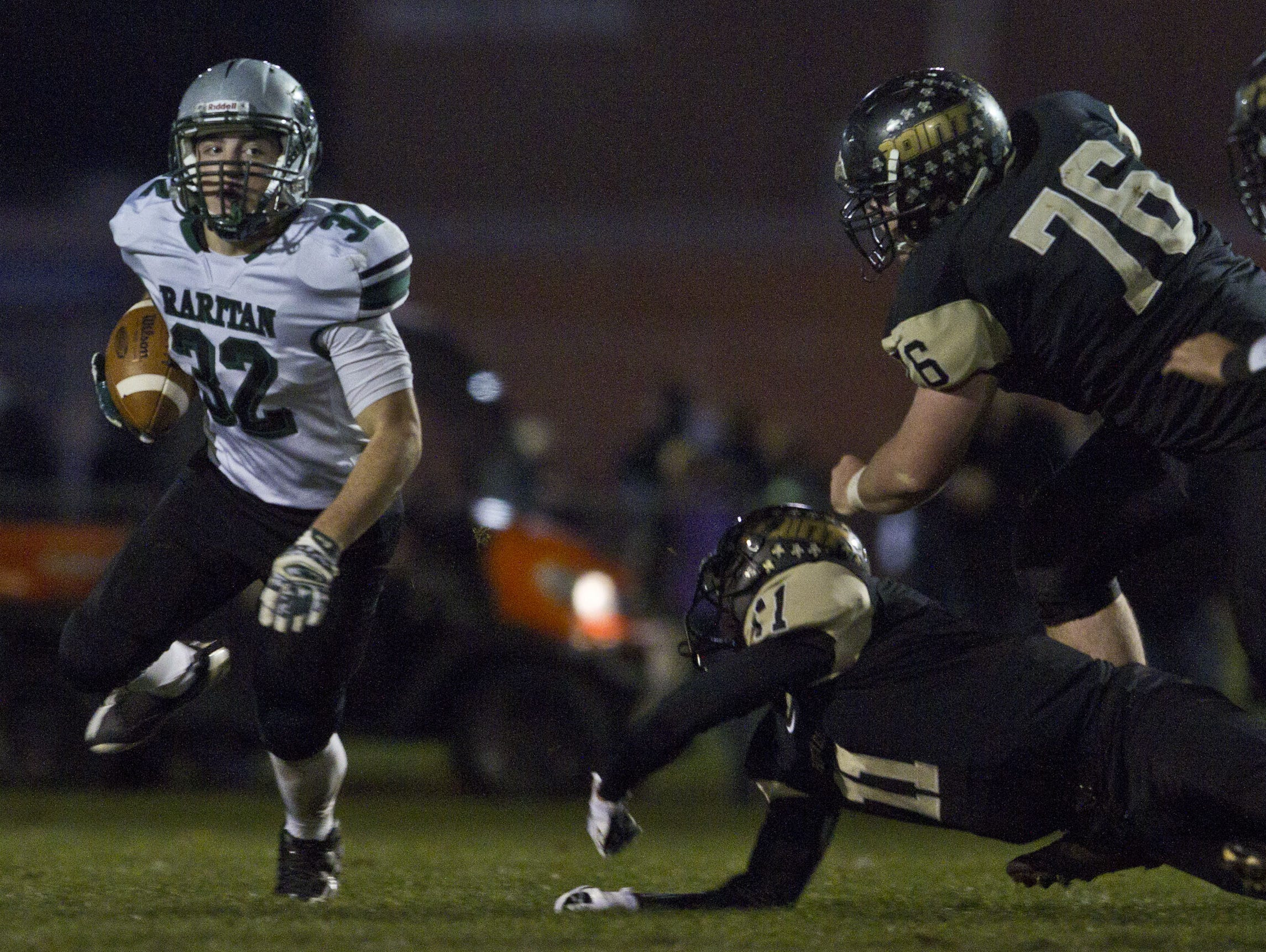 Raritan, with senior running back Derek Ernst leading the way, has been the Shore Conference's biggest surprise in the NJSIAA playoffs.
