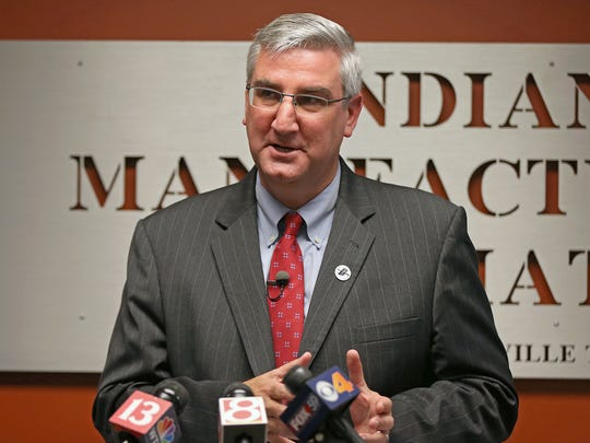 Eric Holcomb, the Republican candidate for Indiana