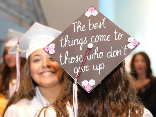 Harrison High School's graduation ceremony at Purchase
