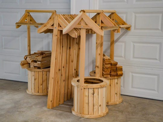 One of Jeanette Elliott's most popular items is a small wishing well.