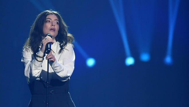 Lorde performs at the BMO Harris Bradley Center Thursday.