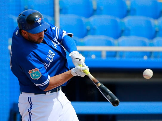 Blue Jays first baseman Chris Colabello finally accepted
