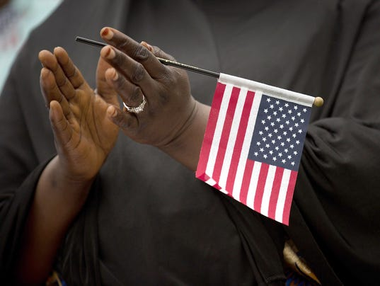 Naturalization Ceremony Held On New York's FDR Park