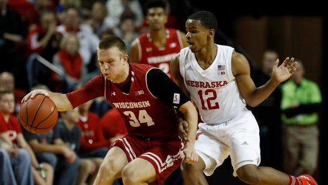 Guard Brad Davison and the Badgers have struggled shooting from three-point range.