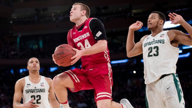 Wisconsin guard Brad Davison is ready to be done with questions about the shoulder trouble that plagued him throughout his freshman season.