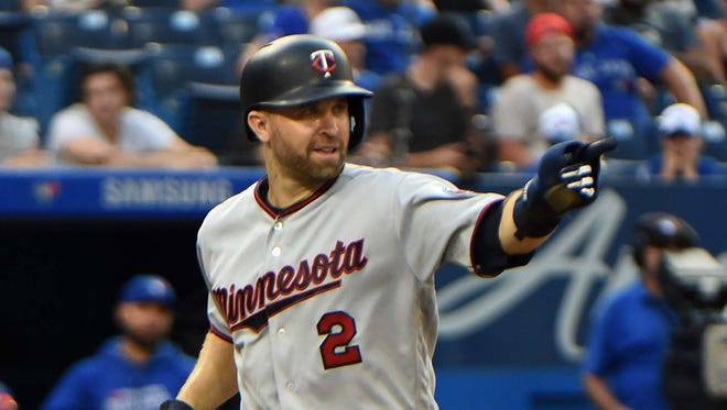 Brian Dozier was acquired by the Dodgers at the trade deadline.