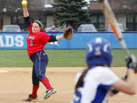 Binghamton graduate Mikayla Pourby, an East Stroudsburg freshman, was named the Pennsylvania State Athletic Conference Pitcher of the Week.