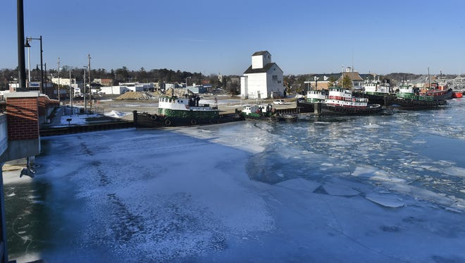 The embattled waterfront property on Sturgeon Bay's west side lies between the Maple-Oregon and Michigan Street bridges.