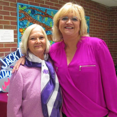 Cheatham County Central High School's first-ever steak dinner and auction was held on April 30. One of the highlights of the fundraiser was a performance by Chonda Pierce, one of the country's top female comedians. Pierce, right, is pictured with retired CCCHS theater teacher Joyce Mayo.