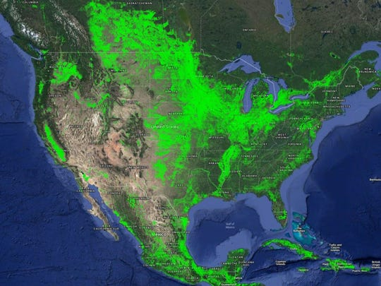 This map shows U.S. croplands in a nominal 30-meter resolution. This is part of the GFSAD30 Project.
