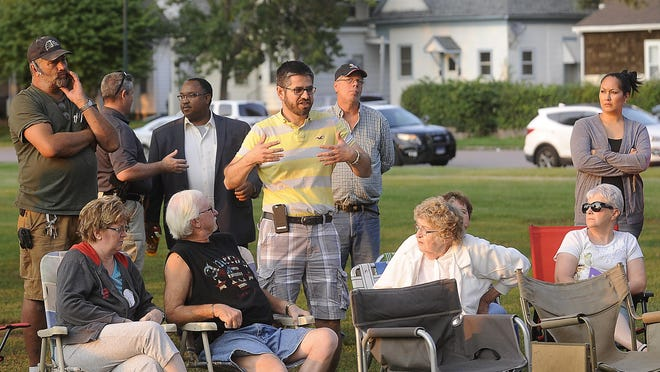 Oscar Mata, Whittier neighborhood resident, says he won't bring his kids to the park because of the smoking and language at Heritage Park in Sioux Falls, SD; Tuesday, Aug. 25, 2015.