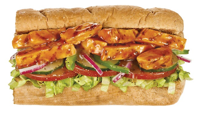 Subway's Sweet Onion Chicken Teriyaki sandwich is part of the new Simple Six $6 menu.