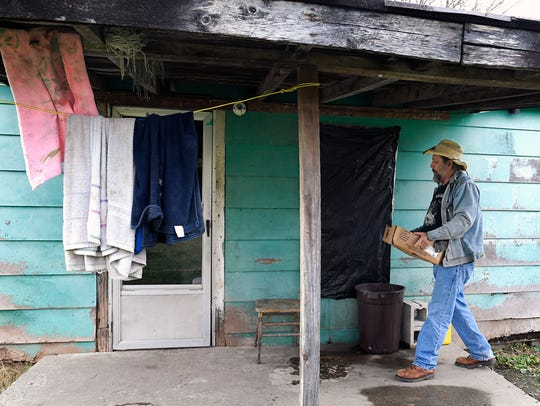 Jack Stoddart, a man more well known as Hippie Jack, delivers food to people in need in the tiny town of Wilder, including the home of Steve Sells, who lives with no electricity and no running water.