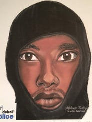 A composite of one of the two suspects wanted in connection with the fatal shooting of a 26-year-old male victim on Nov. 14 at The Water Station.