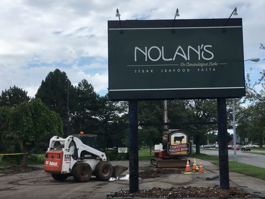 The site of Nolan's restaurant, which was destroyed