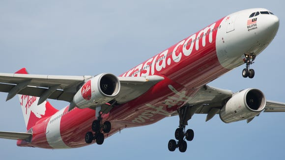 An Air Asia X Airbus A330 is seen in flight in 2016.
