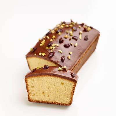 Sour Cream Pound Cake With Chocolate Cherry Glaze