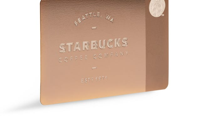 Limited-edition metal Starbucks card.