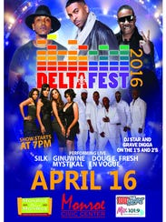 DeltaFest R&B concert is Saturday.