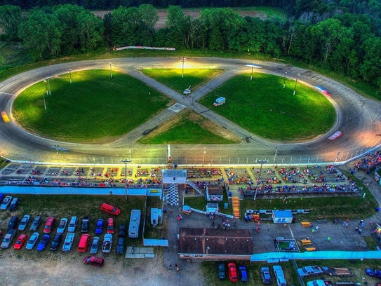 The figure eight track at Galesburg speedway.