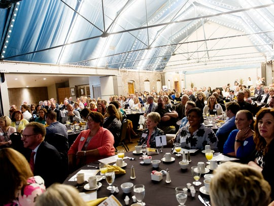Attendees mingle during the 2017 Top Workplaces event
