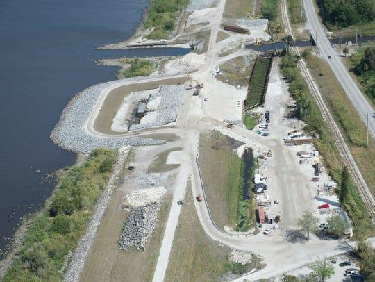 Construction on Herbert Hoover Dike Culvert 11 is seen