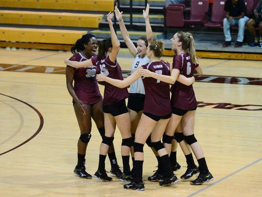 Maryland Eastern Shore's celebrates after their win