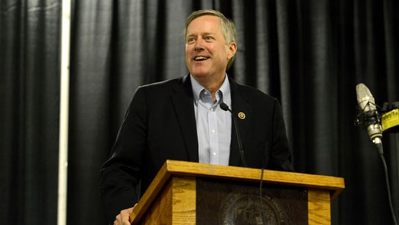 U.S. Rep. Mark Meadows speaks at a campaign event in
