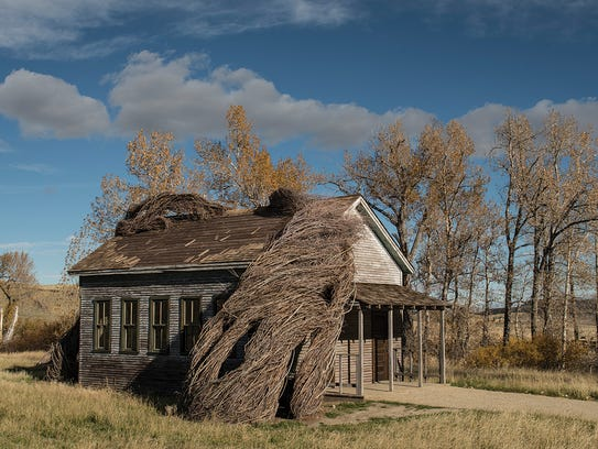 """Artist Patrick Dougherty created """"Daydreams,"""" which"""