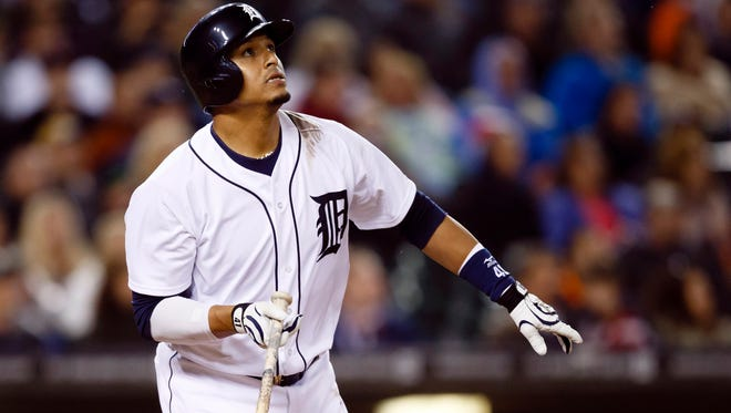 Victor Martinez's home run total equals his strikeouts this season.